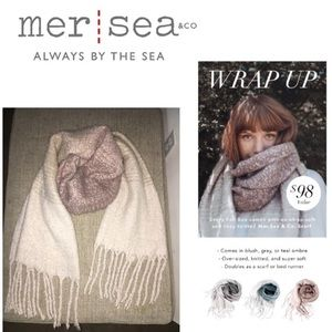 Mer-Sea thick color rosé ombré tassel scarf